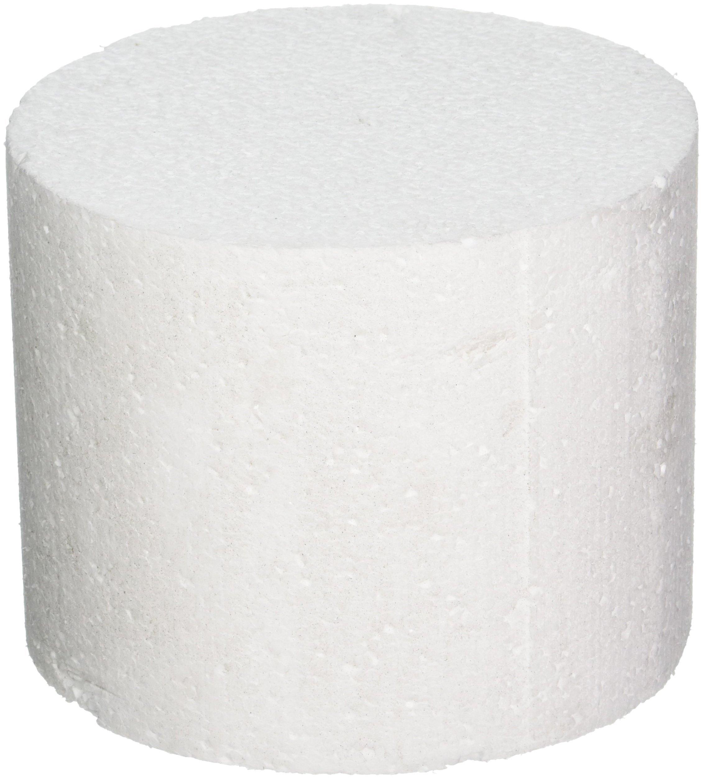 Oasis Supply 747086 Dummy Round Cake, 6'' x 5'', White