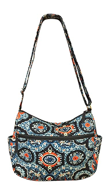 6b74d02124b9 Image Unavailable. Image not available for. Color  Vera Bradley On the Go  Everyday Crossbody Bag (Marrakesh with Solid Navy Lining)