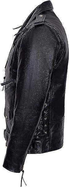 Men/'s LIVE TO RIDE EAGLE Black Casual Real Hide Biker Leather Jacket MBF