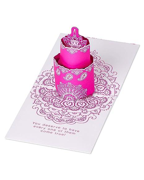 Amazon.com: Tarjeta de felicitación de cumpleaños con diseño ...