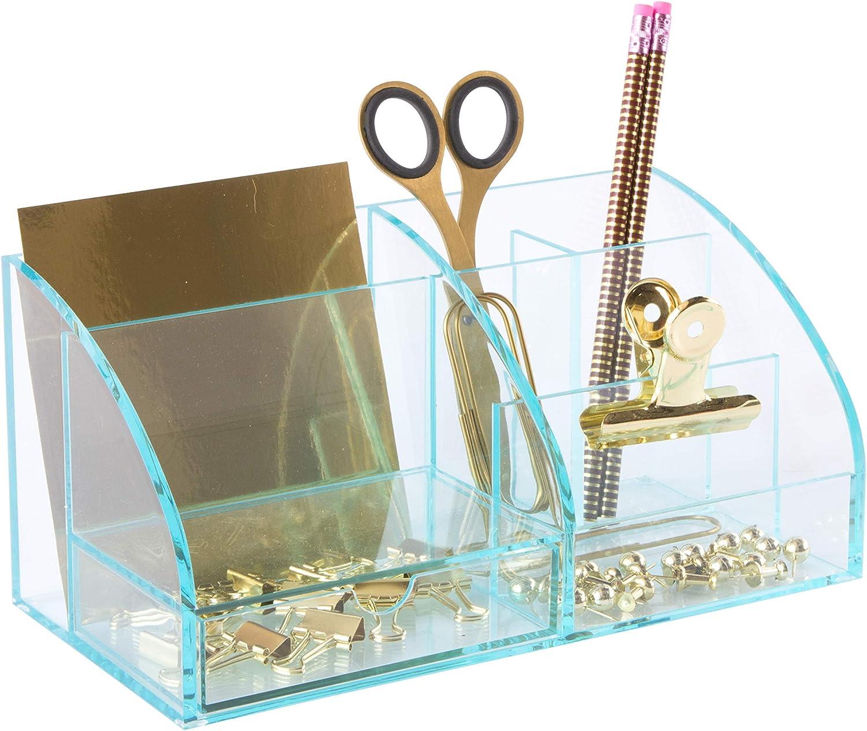 OSCO color Glass Look Organizador de escritorio de acr/ílico brillante