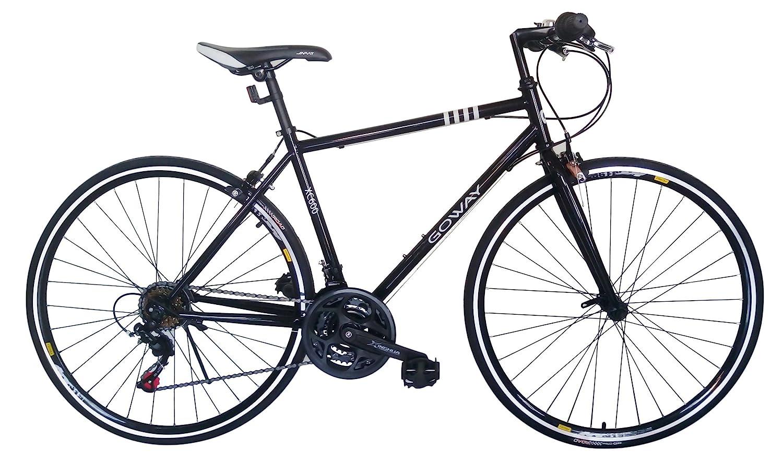 GOWAY(ゴーウェイ)クロスバイク 700c X 23cシマノ純正18段変速 前輪クイックリリース [並行輸入品] B071P23G7Hブラック