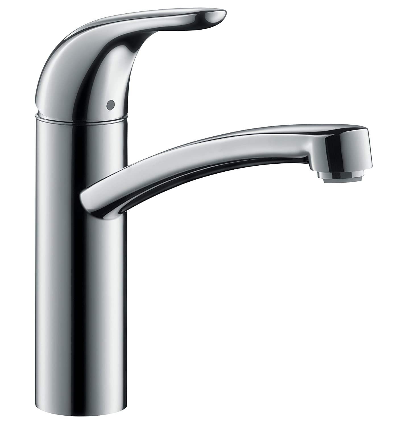 hansgrohe Focus E kitchen tap with 360° swivel spout, chrome ...