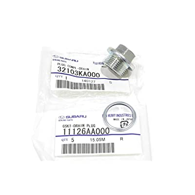 1985-2020 Subaru Magnetic Oil Drain Plug & Gasket Impreza Legacy Justy OEM NEW: Automotive