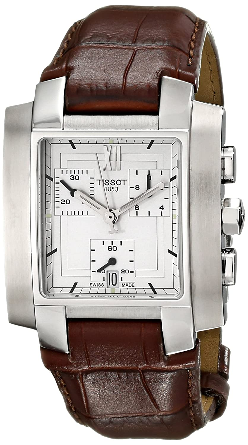 Amazon.com: Tissot Mens T60151733 TXL Chronograph Brown Leather Watch: Watches
