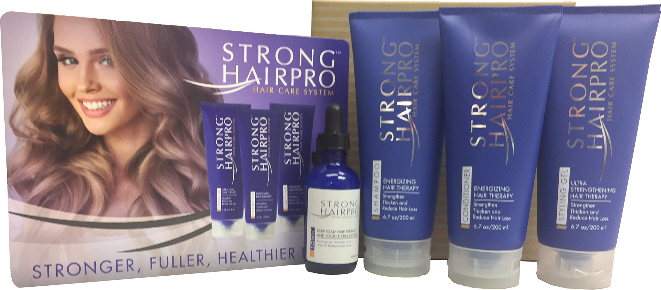 Strong HairPro Hair Care System - Deep Scalp Hair Therapy & Follicle Stimulation (Full Set)