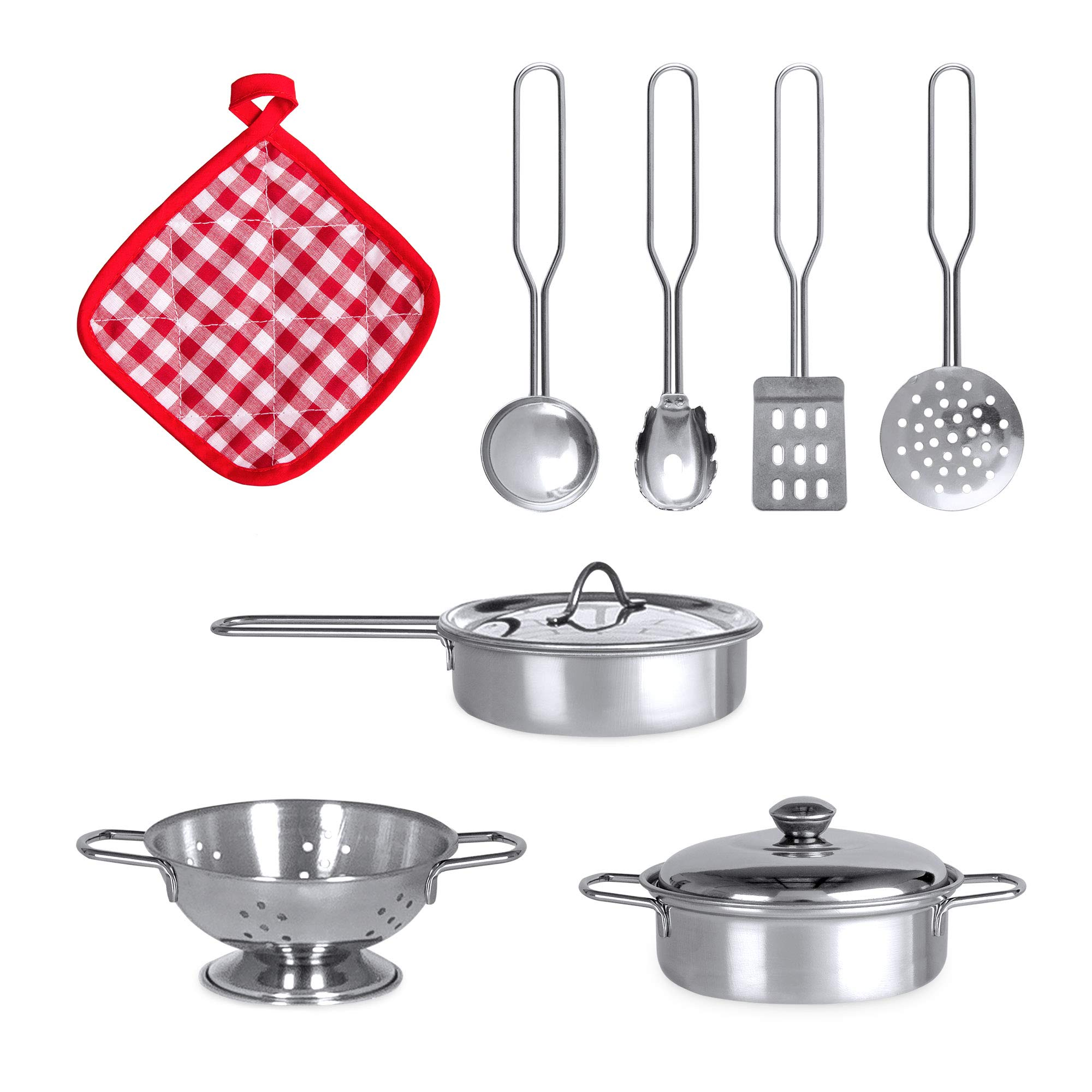 Best Choice Products Play Kitchen Set with 4 Utensils, Sounds, Sink, Fridge, Stovetop by Best Choice Products (Image #5)