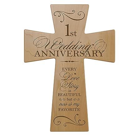 Anniversario Di Matrimonio Regali Per Lui.1st Anniversario Di Matrimonio In Legno Di Acero Da Parete Croce