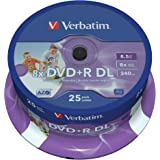 Verbatim (43667) : DVD+R DL 8x 25-pack : Printable Optical Media