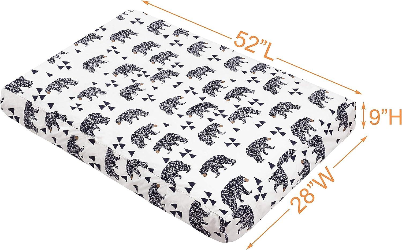 100/% Coton Drap-Housse Avec Imprim/é Design Pour Lit de B/éb/é 120x60CM Rose