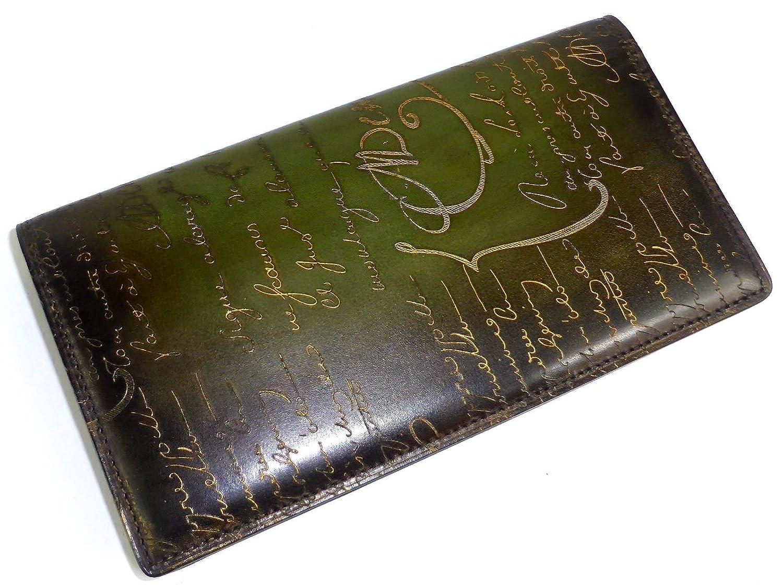 [ベルルッティ] 二つ折り 長財布 EBENE カリグラフィ ヴェネチアレザー ゴールデンパティーヌ 特注品 [並行輸入品] B07DS5BZSY
