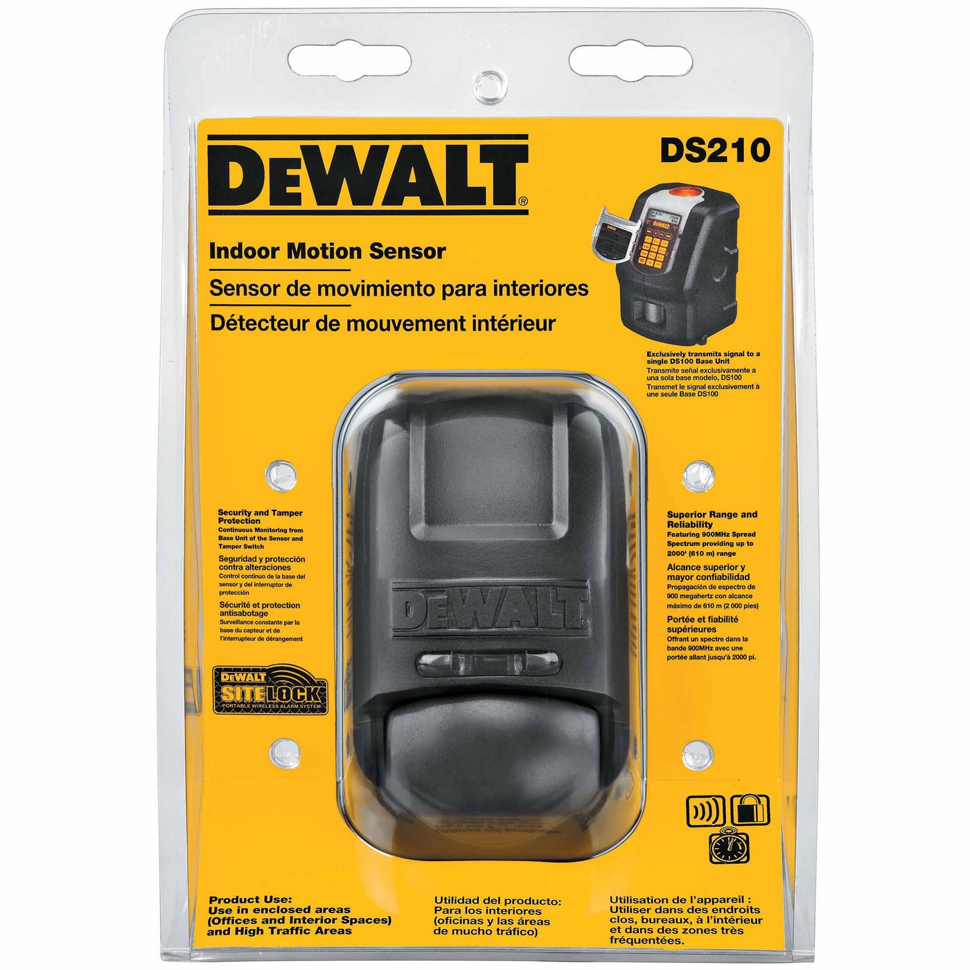 Amazon.com: DeWalt DS210 Indoor Motion Sensor - PIR (Passive Infrared): Home Improvement