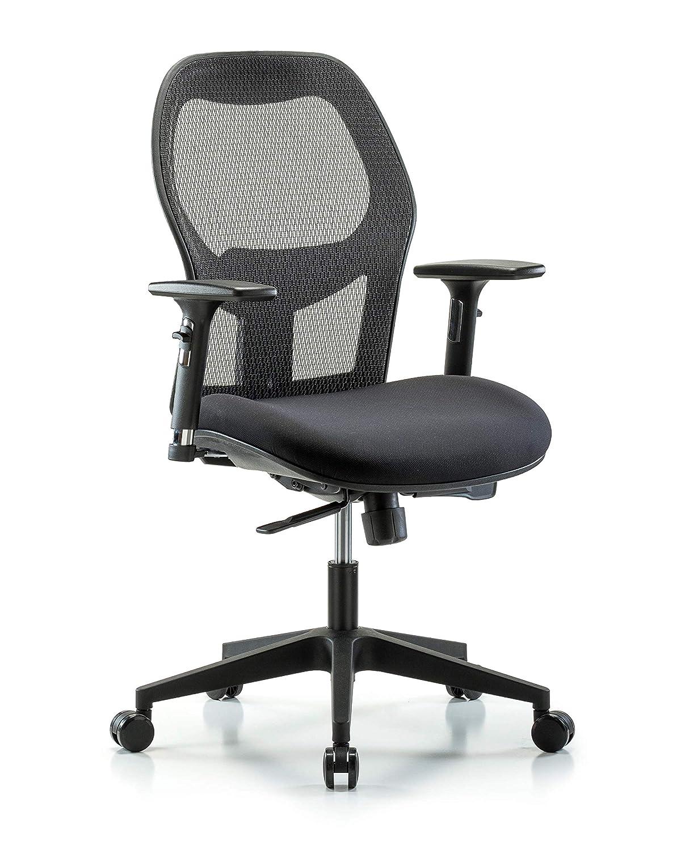 Arms Polyurethane Nylon Base Casters LabTech Seating LT43664 Desk Height Chair Tilt