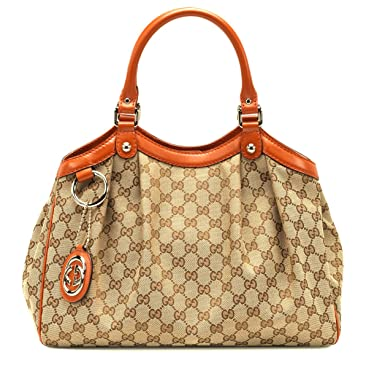 65a64397527db9 Image Unavailable. Image not available for. Color: Gucci Women's Sukey  Original GG Canvas Tote Medium ...