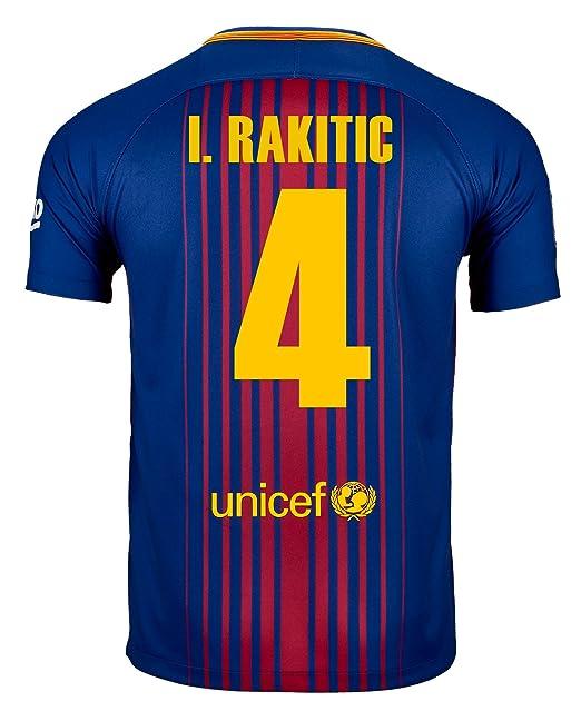 best website 5ba29 fccae Amazon.com: I. Rakitic #4 FC Barcelona Home Soccer Jersey ...