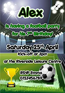 Personalised Football Party Invites