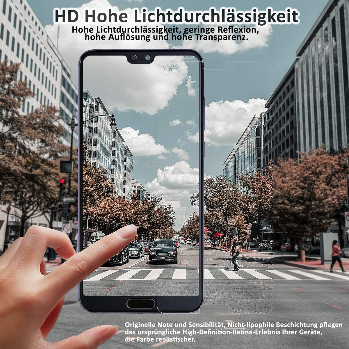 2 St/ück 9H H/ärtegrad Anti-Kratzen Einfache Installation Blasenfrei Panzerglasfolie High Definition Displayschutzfolie f/ür Huawei P20 Panzerglas Schutzfolie f/ür Huawei P20,