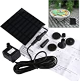 Solar Fountain Pump,GOCHANGE Solar Panel Pond Pump Water Feature Pump / Water Pump Submersible Pump for Pond Fountains with 4 Nozzles