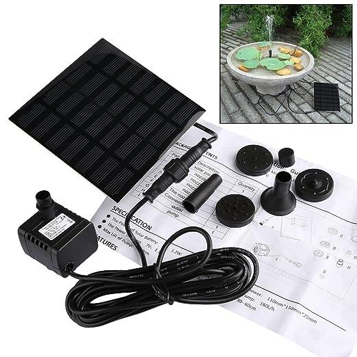 7 opinioni per Pompa a Fontana Solare,GOCHANGE 160 L/h,0.6M Altezza 0,6m Pannello Solare Pompa