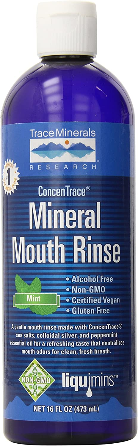 Trace Minerals Research Concentrace Mineral Mouth Rinse 16 oz