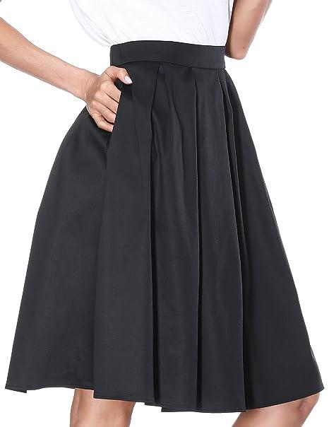 High Waisted Full Skirt
