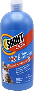 Shout for Cats Turbo Oxy Stain & Odor Remover eliminates Pet Stains From Carpet & Surfaces