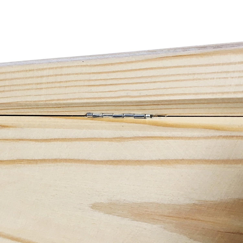 Creative Deco XXL Grande Coffre Bo/îte de Rangement Bois Documents et Objets Outils Parfait pour Jouets Non Peinte Caisse Malle pour D/écorer avec Couvercle avec Poign/ées 40 x 30 x 24 cm