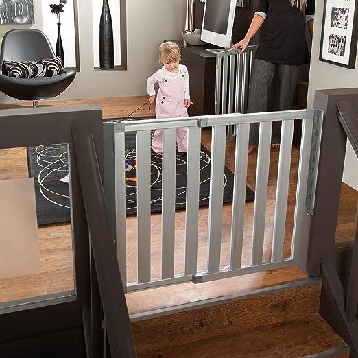 Munchkin Loft Aluminum Hardware Mount Baby Gate for Stairs