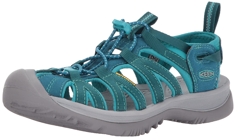 KEEN Women's Whisper-w Sandal B01N53TMK0 7 B(M) US|Blue Coral/Baltic