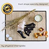 Gua Sha Scraping Massage Tools with Smooth Edge ✮ High Quality Handmade Sibin Bian Stone ✮ Face and Body ✮ Physical Therapy Tool for IASTM, ASTYM ✮ Storage Bag ✮ E-Book Bonus