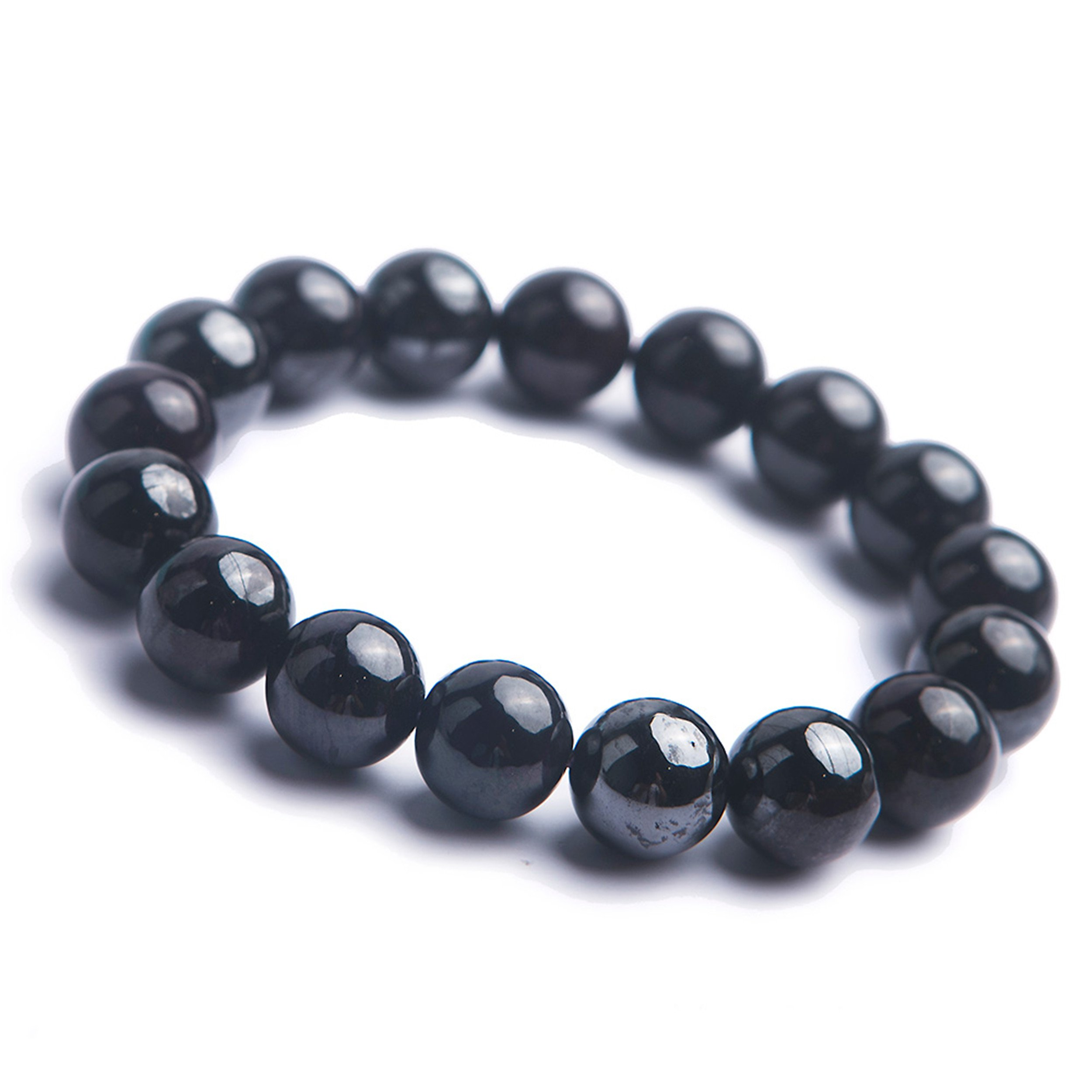 LiZiFang Natural Genuine Sugilite Gemstone Crystal Stretch Round Bead Woman Bracelet 12mm