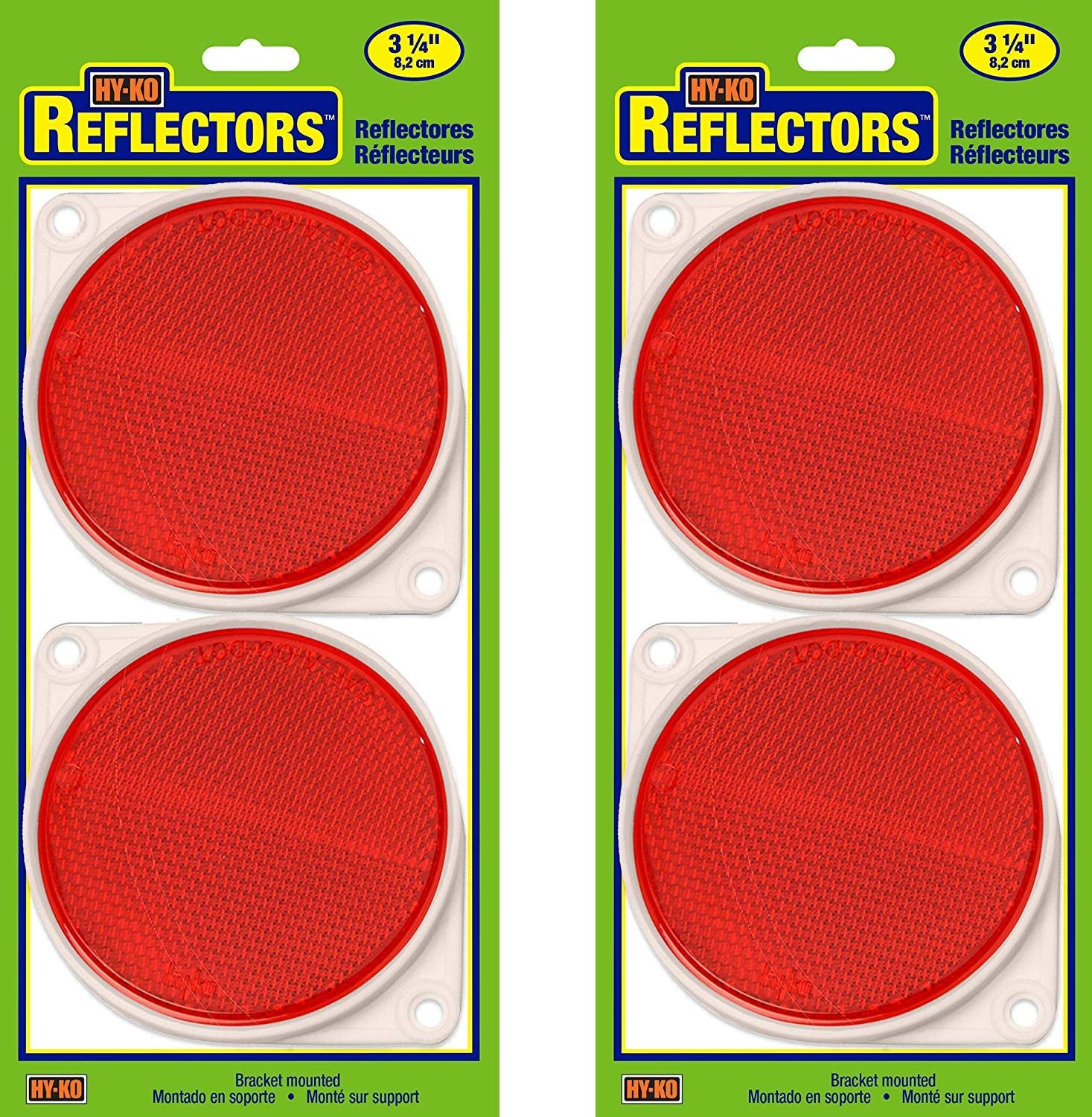 Hy-Ko Products CDRF-3R Nail On Reflector 3'' Diameter Red, 1 Piece (Red, Тwo Рack)
