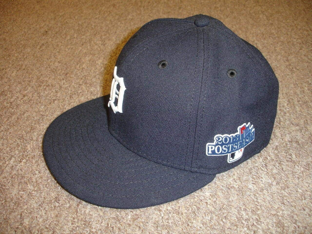 2013 Rafael Belliard Detroit Tigers Game Used Coaches Hat #17 Postseason Patch Game Used MLB Hats