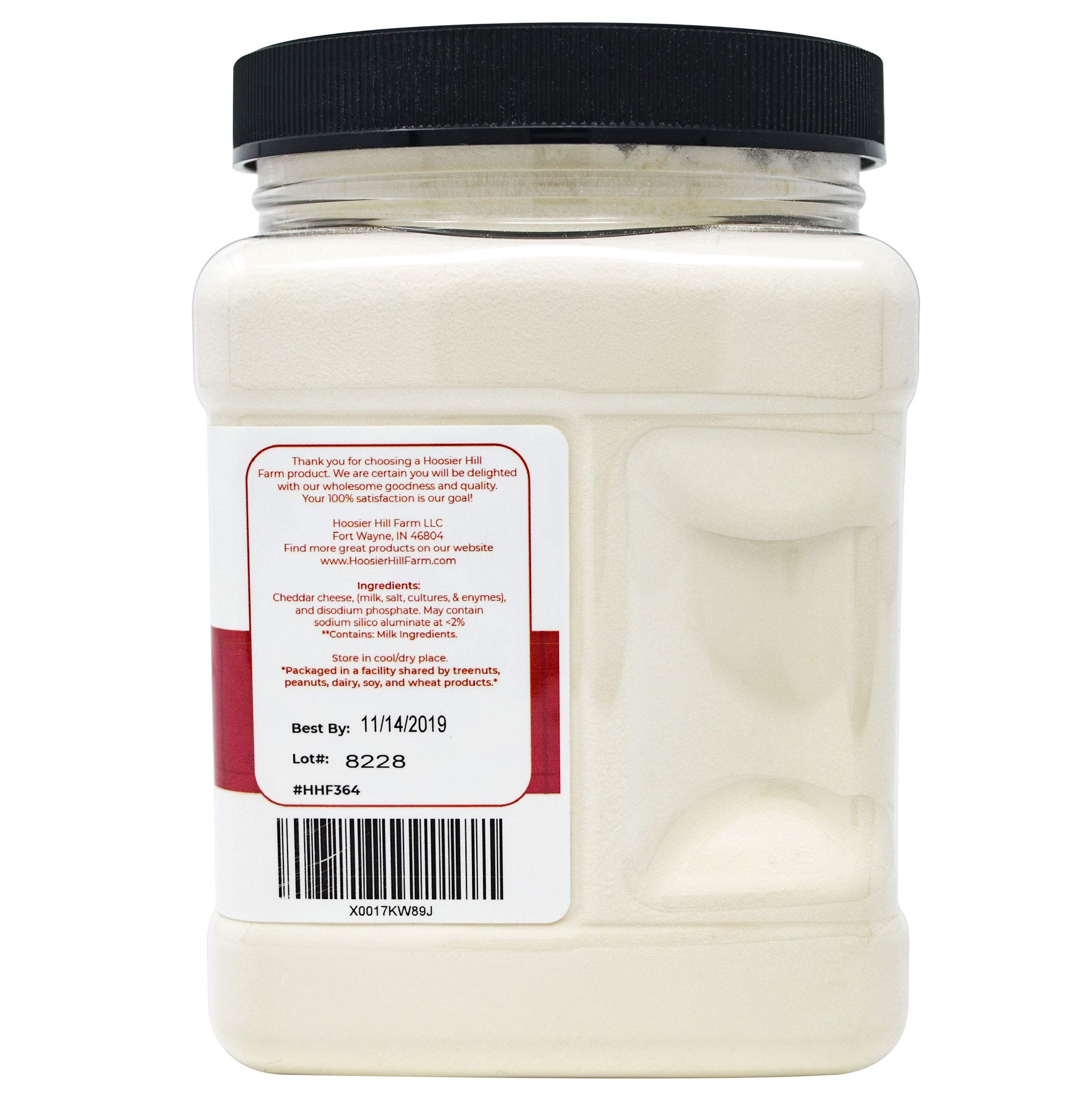 Hoosier Hill Farm Premium White Cheddar Cheese Powder, Natural (1 lb) rBGH and rBST.free. by Hoosier Hill Farm (Image #4)