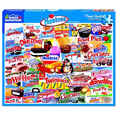 White Mountain Puzzles Hostess - 1000 Piece Jigsaw Puzzle: Toys & Games