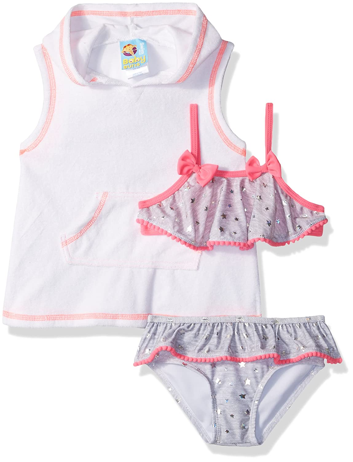 Baby Bunz Little Girls' Heart Dot Swimsuit