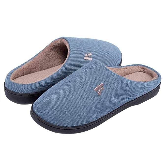 IKENIP Women's Memory Foam Slippers Cozy Anti-Slip Indoor House Shoes