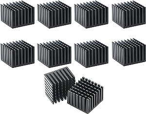 Senmod 10pcs 28 x 28 x 20mm Aluminum Heatsink Cooler Circuit Board Cooling Fin for Raspberry Pi, VGA RAM, IC Chips, Mosfet SCR, South Bridge, North Bridge