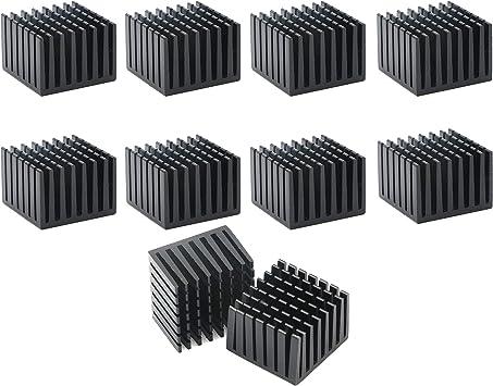 Senmod 20 x 20 x 10mm Chip Radiator Aluminium Heat Sink Cooling Module Pack of 30