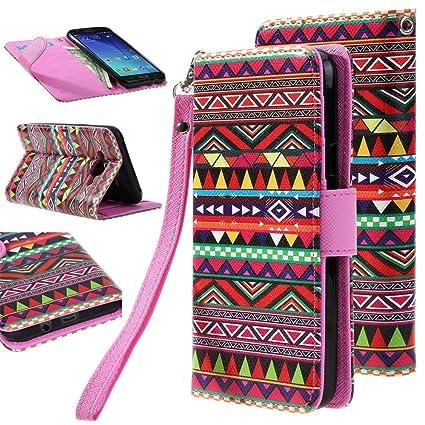 on sale f9152 54183 ELV J7-Flip-trib Leather Flip Case Cover for Samsung Galaxy J7 2015  (Multicolour)