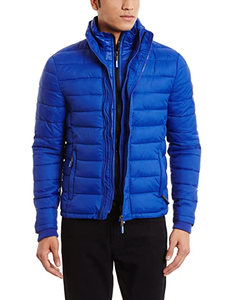 Superdry Fuji Triple Zip Through, Abrigo Impermeable para Hombre: Amazon.es: Ropa y accesorios