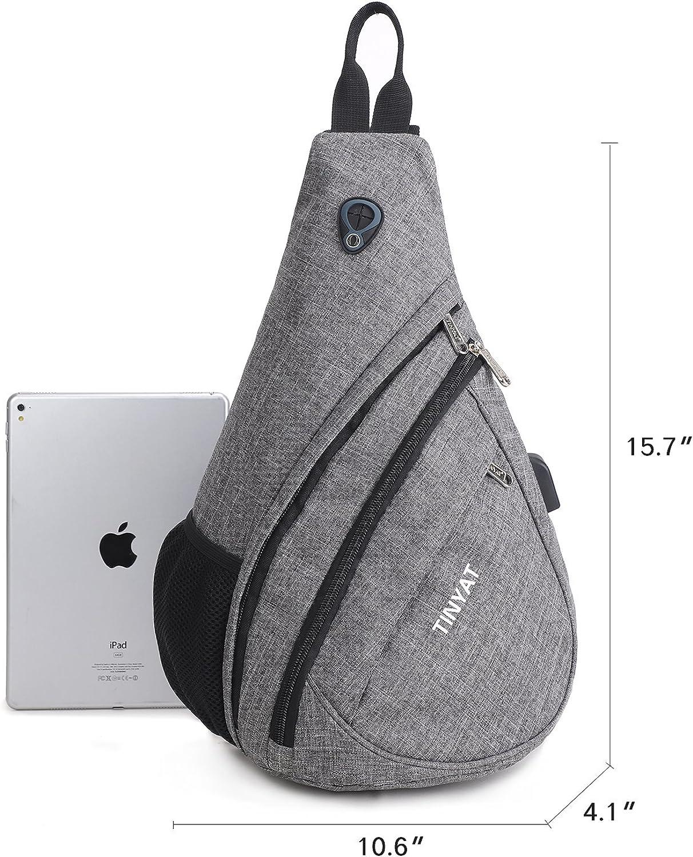 TINYAT Sling Bag Sport Rucksack Chest Bag Travel Casual Crossbody Shoulder Bag