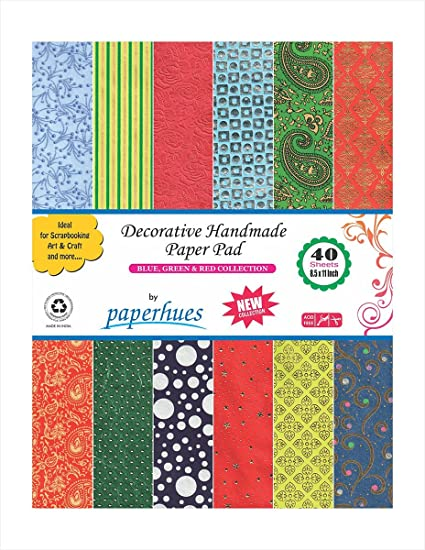 Amazon Paperhues Blue Green Red Celebration Collection 85x11