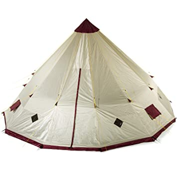 Skandika Waterproof Tipii Teepee Unisex Outdoor C&ing Tent available in Sand/Burgundy - 2 Persons  sc 1 st  Amazon.com & Amazon.com : Skandika Waterproof Tipii Teepee Unisex Outdoor ...