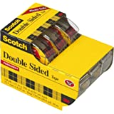 Scotch Double Sided Tape with Dispenser, 1/2 x 250 Inches, 3/Pack Caddy (3136)