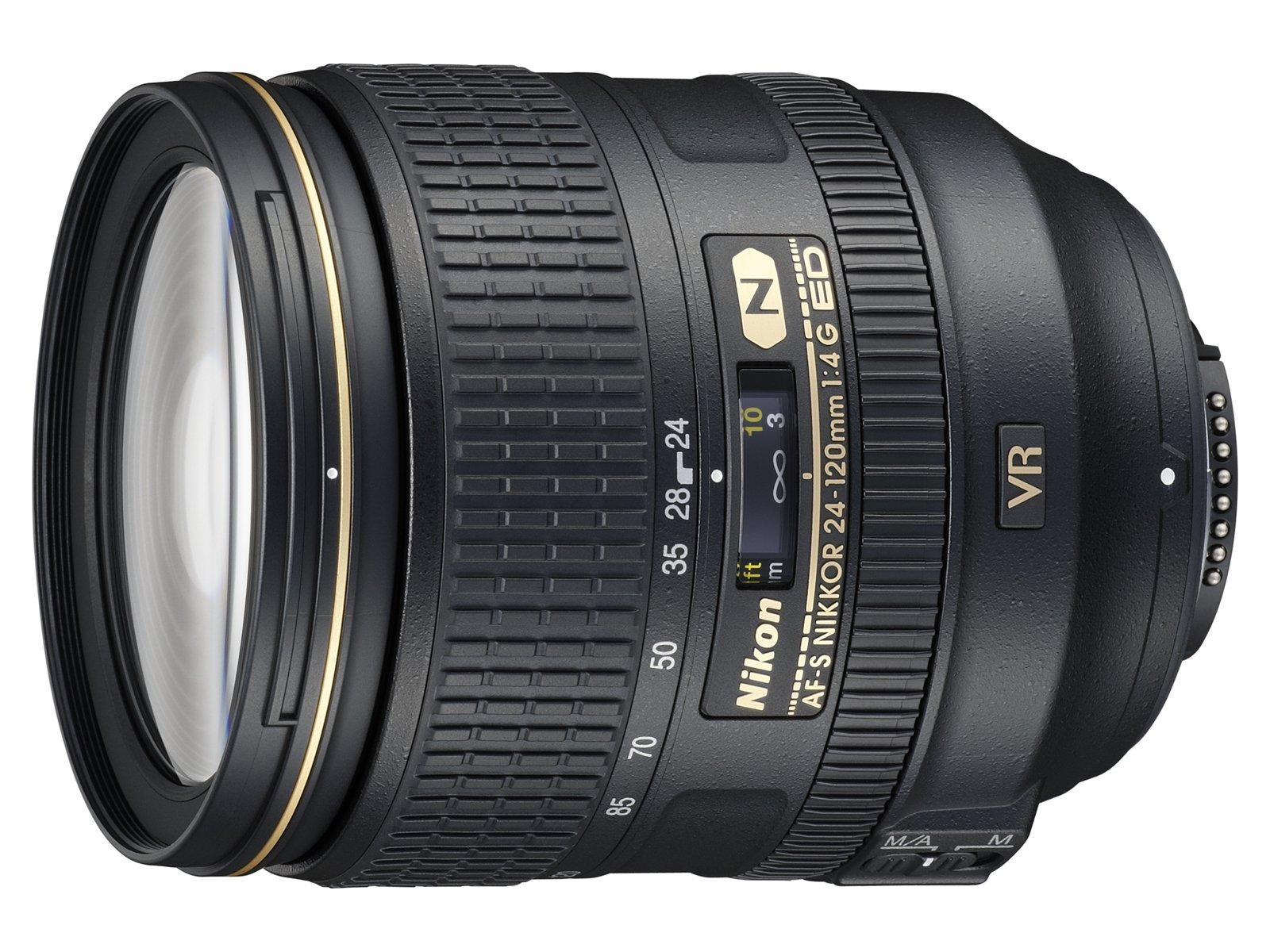 Nikon Standard Zoom Lens AF-S NIKKOR 24-120mm f / 4G ED VR Full Size corresponding by Nikon