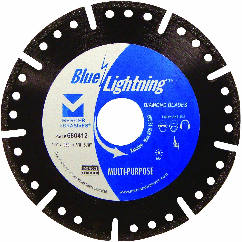 Disco De Diamante Mercer 680412 Multiproposito Blue Lightning 4-1/2 Pulg.
