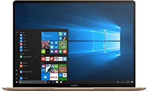 "Huawei MateBook X Signature Edition Ultraslim Laptop, 13"" QHD (2K), Intel Core i7-7500U, 8GB RAM, 512GB SSD, Fingerprint, Office 365 Personal, MateDock v2.0, Prestige Gold"