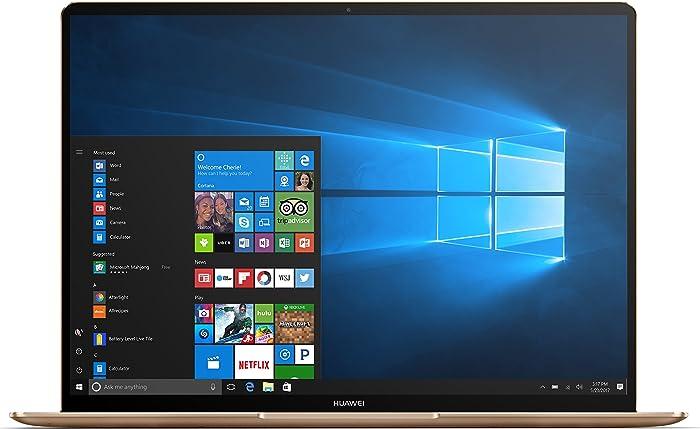 "Huawei MateBook X Signature Edition Ultraslim Laptop, 13"" QHD (2K), Intel Core i7-7500U, 8GB RAM, 512GB SSD, Fingerprint, Office 365 Personal, MateDock v2.0, Prestige Gold"