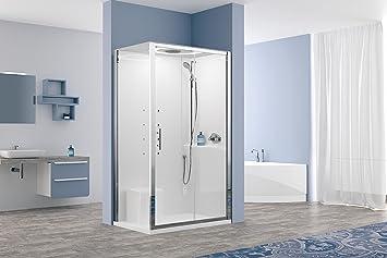 novellini eon 120x80 cabina doccia idromassaggio bagno turco cromoterapia mp3
